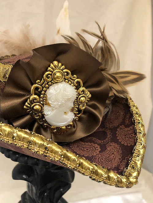 Gold Cameo Pirate Hat