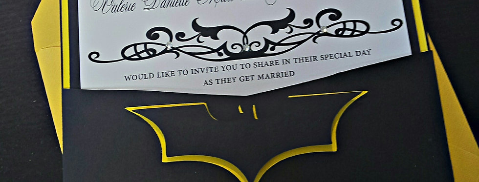 batman wedding invitation, Marvel wedding invitation, Comic wedding invitation, Los Angeles wedding invitations,