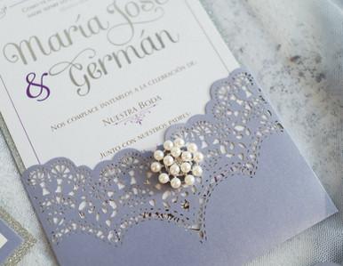 lavender pocket invitation