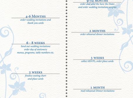 Wedding Stationery Timelne