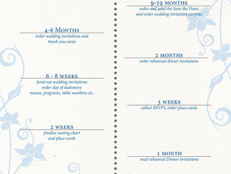 Wedding Stationery Timelne