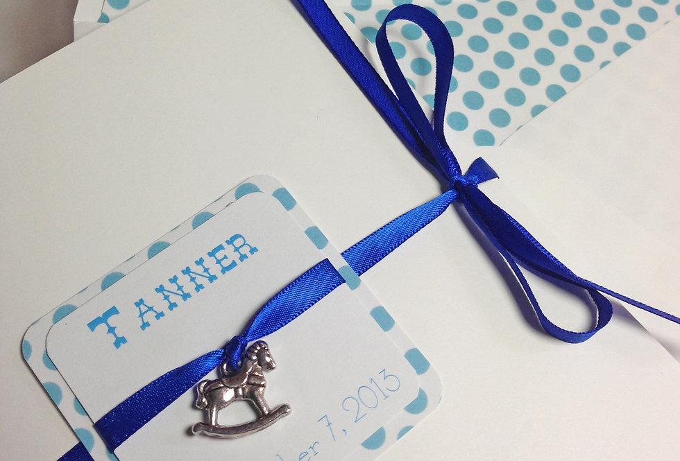 Rocking Horse Birthday Invitation, 1st Birthday Invitation, Couture Baby Invitation, Charm Birthday Invitation, Amira Design