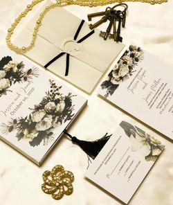 winter wedding box invitation _ amira De