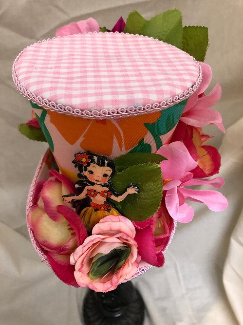 Hula Girl Mini Top Hat