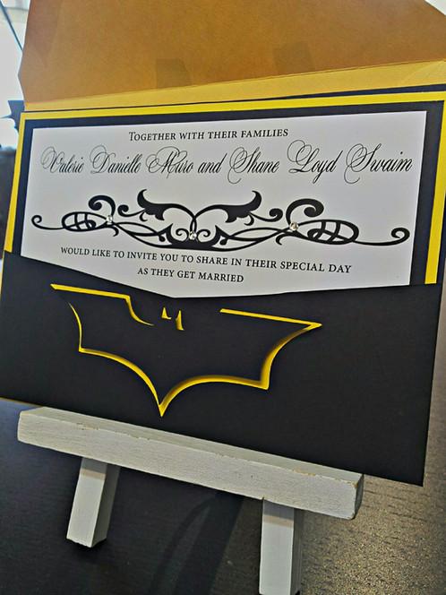 Batman Wedding Invitation Marvel Comic Los Angeles Invitations