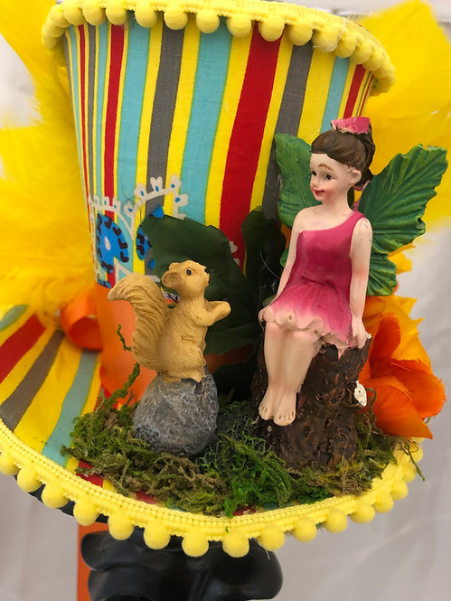 Fairy with Frog Mini Top Hat