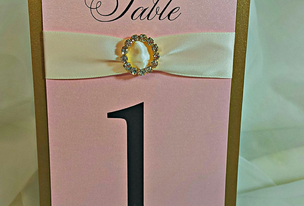 Flourish Table Numbers