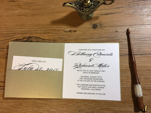 Bethany Couture Wedding Invitations Glendale CA Amira Design