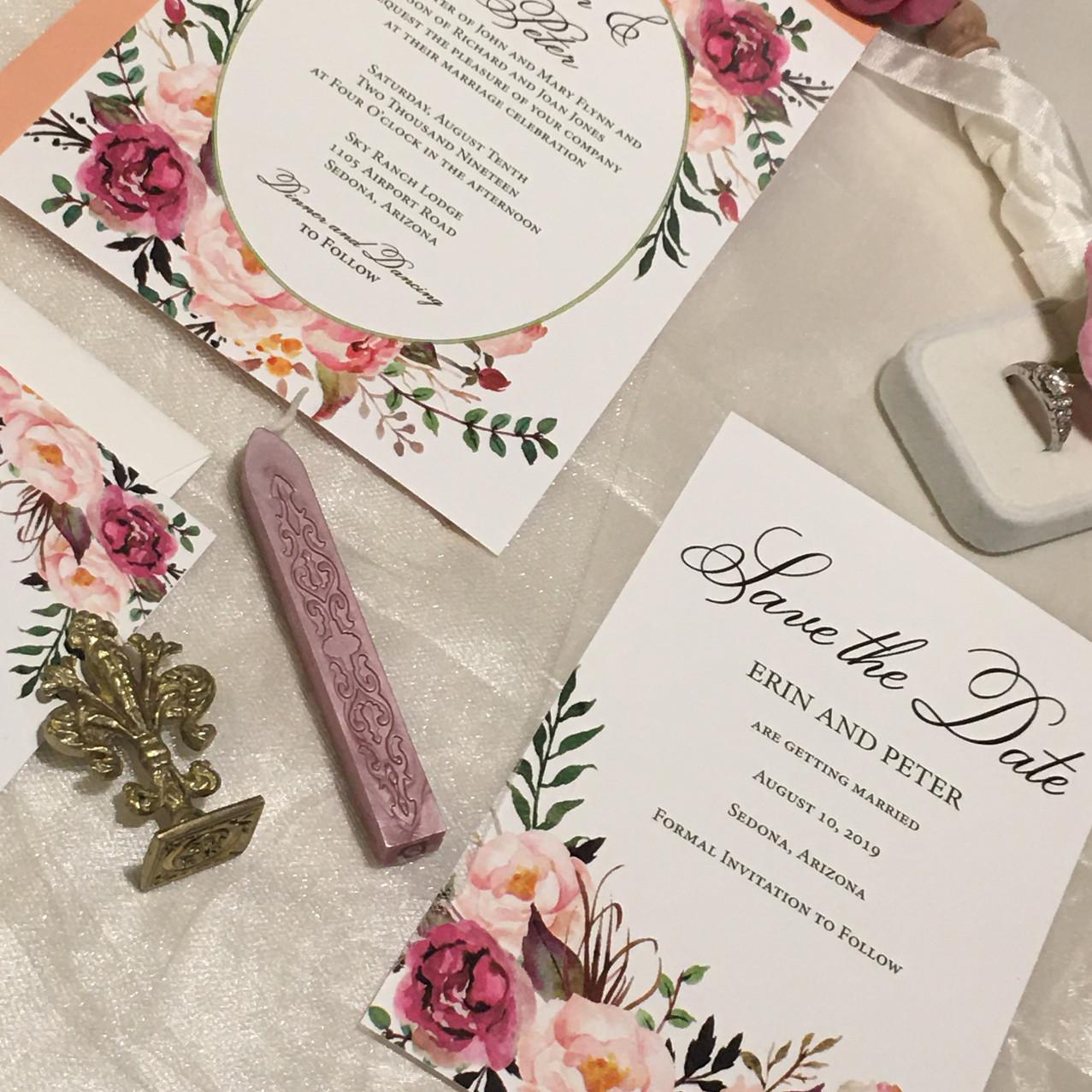 Boho Wedding Invitation Erin - Amira Des
