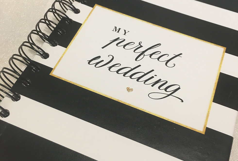 Black and White Wedding Planner