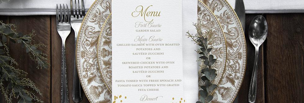Kristin Dinner Menu