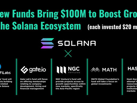 5 New Funds Bring $100M to Boost Growth of the Solana Ecosystem