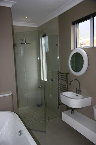 Door + Inline Shower