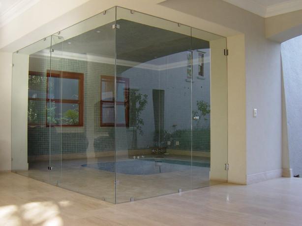 Indoor pool partition