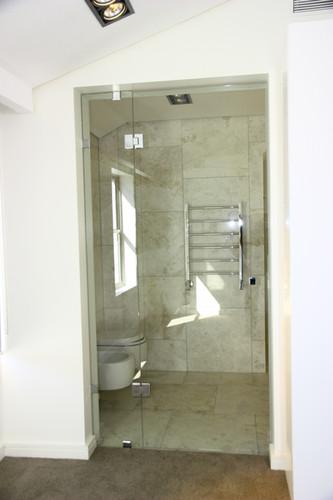Frameless door and panel