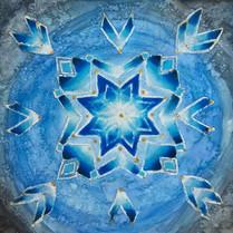 Geometric Oil Pastel Snowflakes