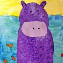 Mixed Media Hippo