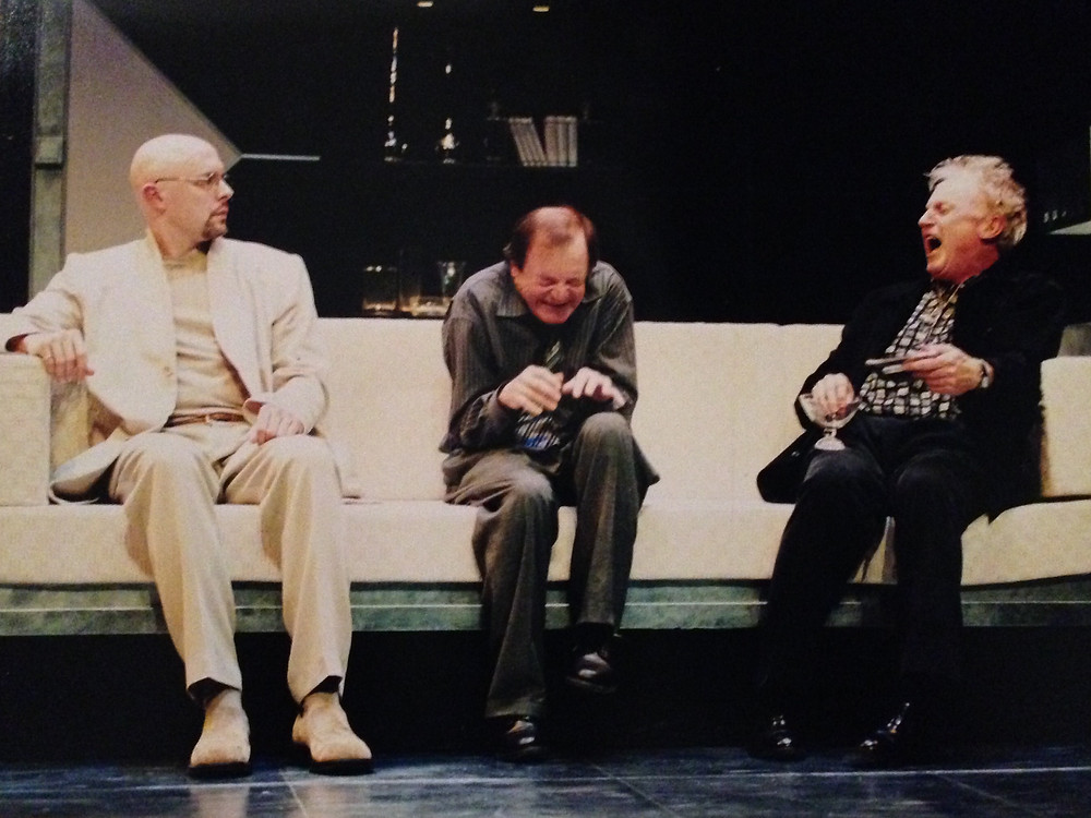 ART, by Yasmina Reza, adapted by Christopher Hampton. Christopher Hunt, Ian D. Clarke and Robert Seale. Directed by D. Michael Dobbin (photo by Trudie Lee)