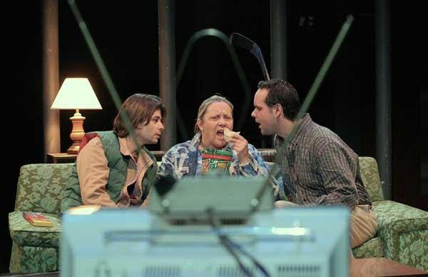 "Christian Goutsis, Val Pearson, and Curt McKinstry on ""John Doe, Jack Rabbit""  (designed by Deitra Kalyn)"