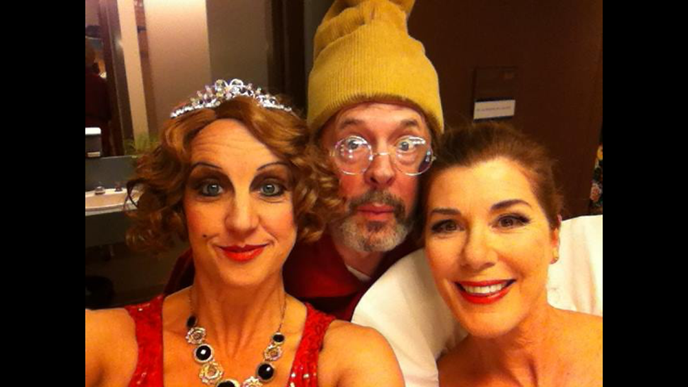 "Backstage during ""Vanya & Sonia & Masha & Spike"", ATP, 2015 Directed by Glynis Leyshon - with Lois Anderson, Christopher Hunt and Sonja Smits"