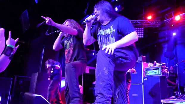 Clip of Travis Ryan with Cannibal Corpse doing Skull Full Of Maggots - 11/7/15