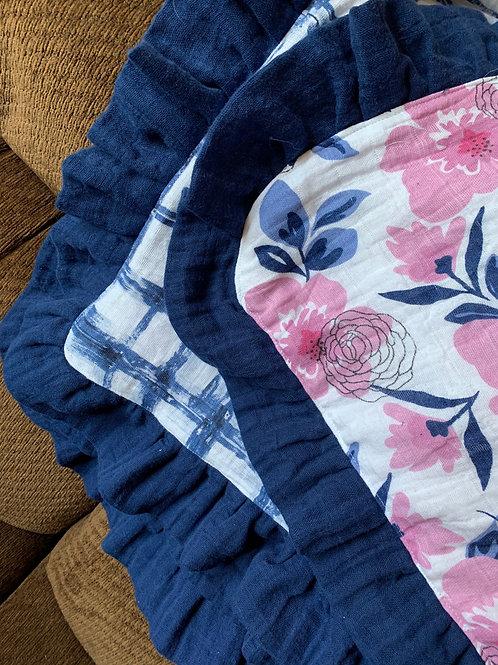 Ruffled Edge Baby Blanket
