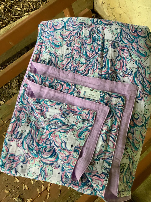 Embrace Unicorn/Lilac THROW Blanket