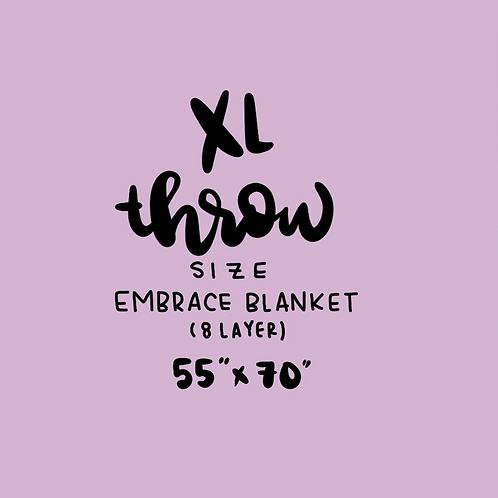 DYO: XL 8 layer THROW double gauze Blanket