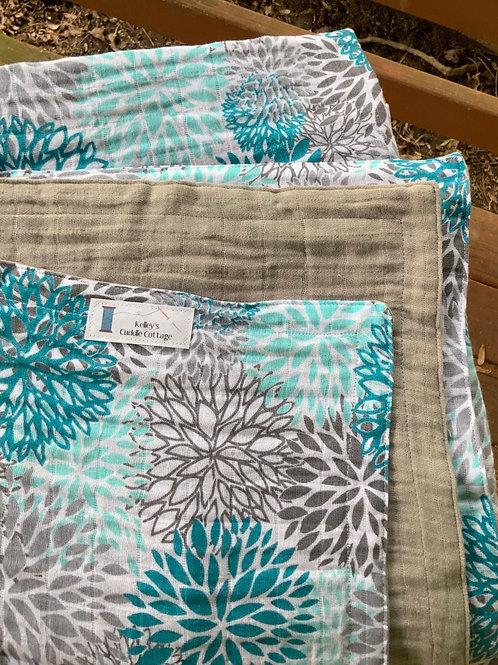 Embrace Blooms Aruba/Silver TWIN Blanket