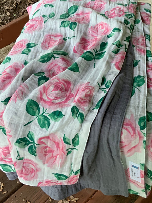 Embrace Rose Garden/Granite TWIN Embrace Blanket