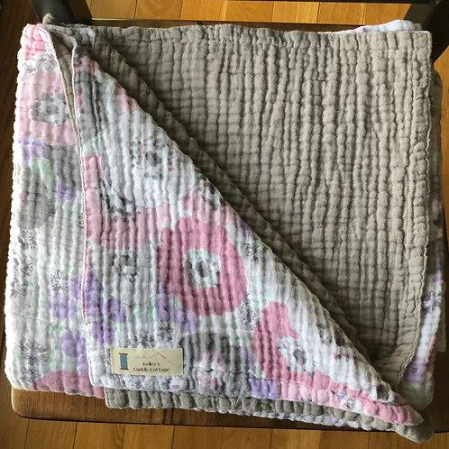 Embrace Fresh Cut Pastel/Silver TWIN Blanket