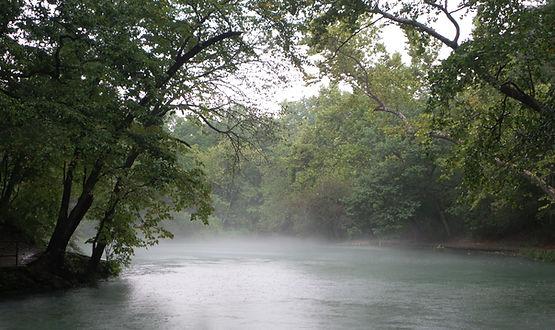 Breathwork near sacred springs in the water.