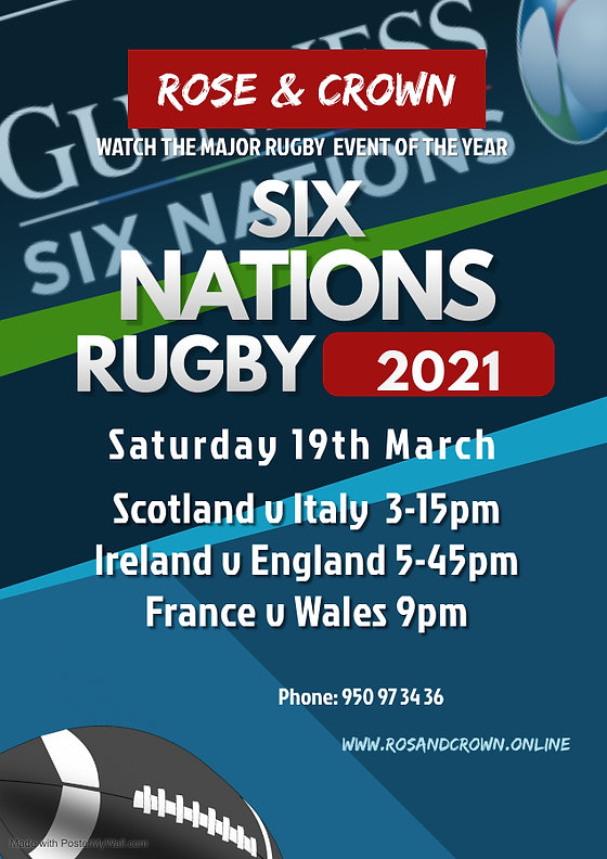 six nations poster 12 - Made with Poster