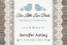 Two Little Love Birds business card