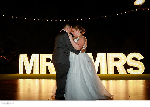 4 ft MR & MRS Marquee
