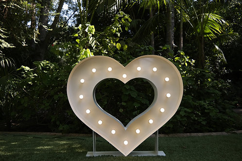 4 ft Heart Marquee