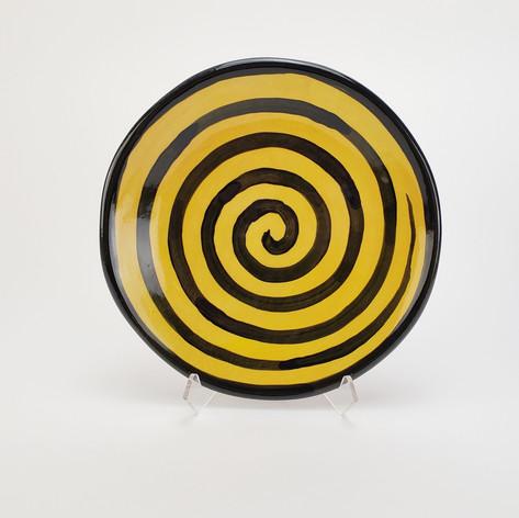 Yellow Confetti 8 inch salad plate