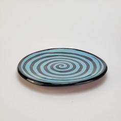 Blue Green Confetti 10.5 inch dinner pla