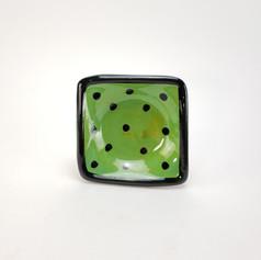 Green Confetti 5 inch dipping dish