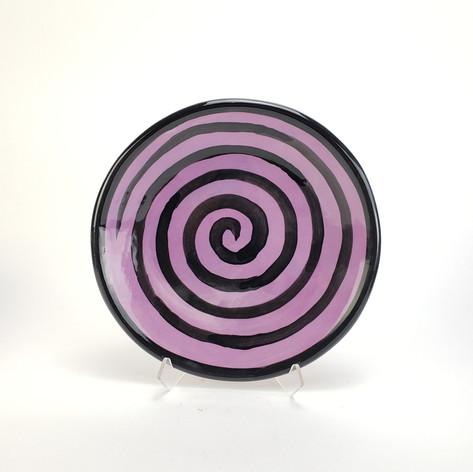 Purple Confetti 8 inch salad plate