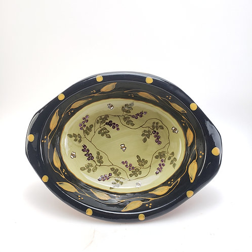 Huckleberries and Bees Oval Baking / Serving Dish