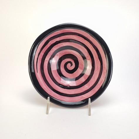 Pink Confetti 8 inch soup bowl