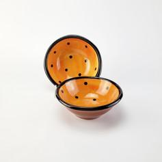 OrangeConfetti 7 inch dessert bowls
