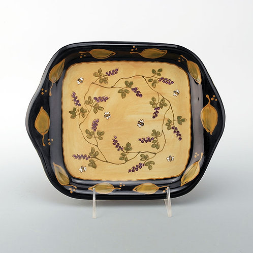 Wheat Huckleberries and Bees Square Tray