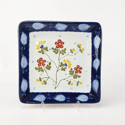 Poppy Field Square Plate