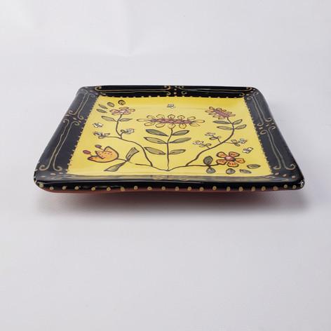 Silk Road Square Plate