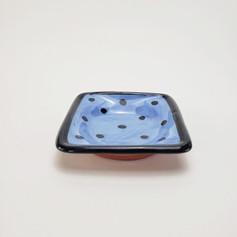 Blue Confetti 5 inch dipping dish