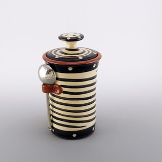 Spiral Coffe Jar with Spoon