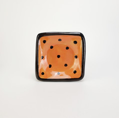 Orange Confetti 5 inch dipping dish