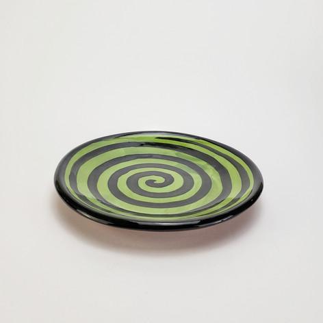 Green Confetti 8 inch salad plate